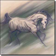 "McElroy Horse Equine Ceramic Accent Tile 6"" x 6"" - KMA034AT"