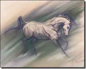 "McElroy Horse Equine Ceramic Accent Tile 10"" x 8"" - KMA034AT"