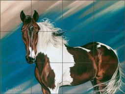 Colors of the Wind by Kim McElroy Ceramic Tile Mural - KMA037
