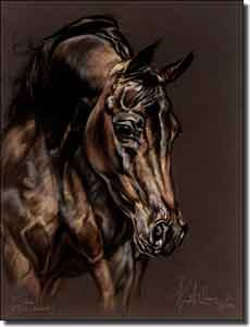 "McElroy Horse Equine Ceramic Accent Tile 6"" x 8"" - KMA040AT"
