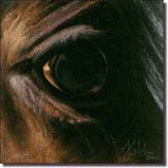 "McElroy Horse Equine Glass Accent Tile 6"" x 6"" - KMA044AT"