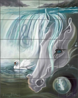 A Song of Stillness by Kim McElroy Ceramic Tile Mural KMA055