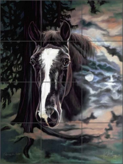 Embrace the Night by Kim McElroy Ceramic Tile Mural - KMA062