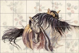 Courtship by Kim McElroy Ceramic Tile Mural KMA068