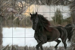 Zavia the Wild by Kim McElroy Ceramic Tile Mural - KMA077