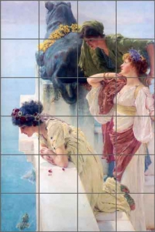 Alma-Tadema Old World Art Ceramic Tile Mural - LAT078
