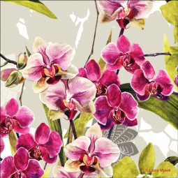 Orchid Display by Laura Mysak Ceramic Accent & Decor Tile - LM2-001AT