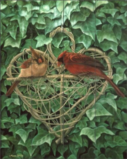 Love is Eternal by Leslie Macon Ceramic Tile Mural LMA014