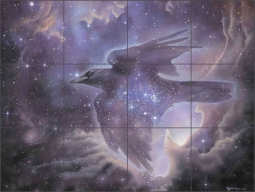 Soul Retrieval by Leslie Macon Ceramic Tile Mural - LMA015