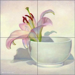 Remember the Lilies by Leslie Macon Ceramic Tile Mural LMA027