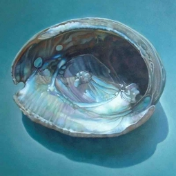 Abalone Shell by Leslie Macon Ceramic Accent & Decor Tile LMA039AT