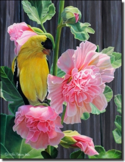 Macon Goldfinch Bird Ceramic Accent Tile - LMA051AT