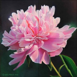 Peony Study III by Leslie Macon Ceramic Tile Mural - LMA062