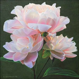 Macon Peony Flower Ceramic Accent & Decor Tile - LMA068AT