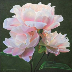 Peony Study VII by Leslie Macon Ceramic Tile Mural LMA068