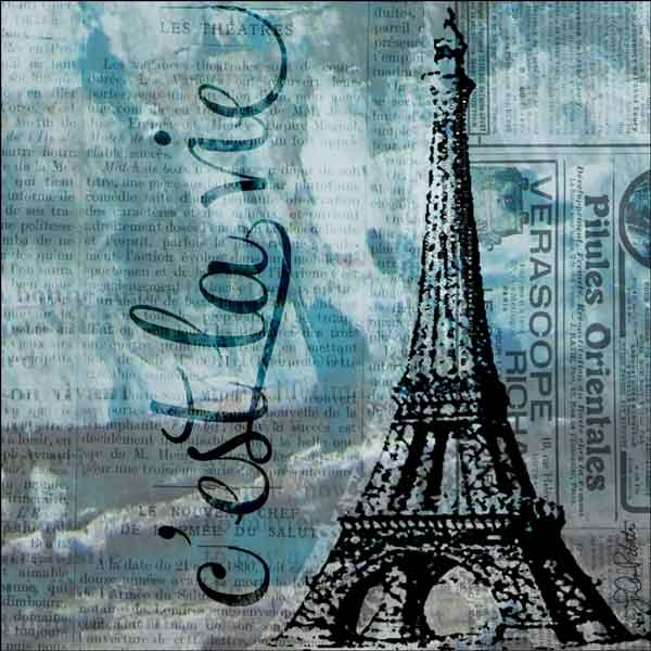 Roberto Paris Eiffel Tower Ceramic Accent & Decor Tile - LRA002AT
