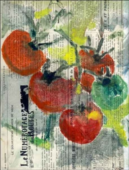 Roberto Tomato Fruit Ceramic Accent & Decor Tile - LRA011AT