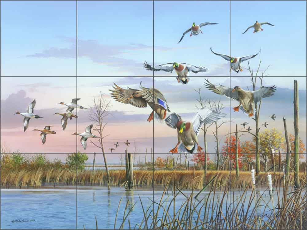 A Safe Return by Mike Brown Ceramic Tile Mural - MBA001