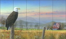 Dreams Flow Across the Heartland by Mike Brown Ceramic Tile Mural MBA005