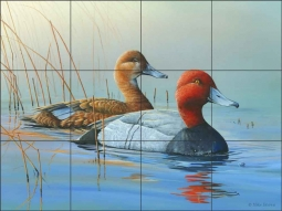 Red Heads by Mike Brown Ceramic Tile Mural - MBA011