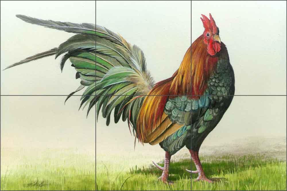 Strutting by Mike Brown Ceramic Tile Mural - MBA014