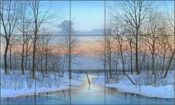 December Solitude by Mike Brown Ceramic Tile Mural MBA019