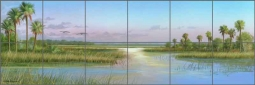 Intercoastal Glimmer by Mike Brown Ceramic Tile Mural - MBA024