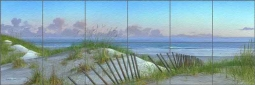 Summertime by Mike Brown Stone Finish Tile Mural - MBA028