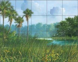 Florida's Back Country by Mike Brown Ceramic Tile Mural MBA029