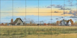 Country Living by Mike Brown Ceramic Tile Mural MBA031