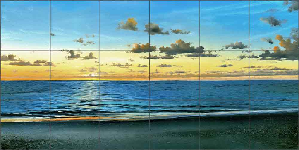 Evening Light by Mike Brown Ceramic Tile Mural MBA032