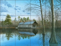 Mill Pond by Mike Brown Ceramic Tile Mural MBA035