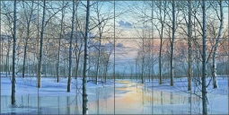 Winter Spectacle by Mike Brown Ceramic Tile Mural MBA037