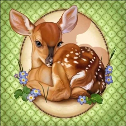 Cazenave Animal Deer Ceramic Accent & Decor Tile MC2-002a