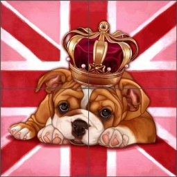 Cazenave British Dog Ceramic Tile Mural MC2-006a