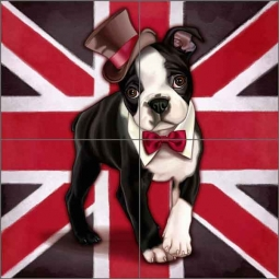 Cazenave British Dog Ceramic Tile Mural MC2-006c