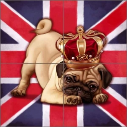 Cazenave British Dog Ceramic Tile Mural MC2-006d