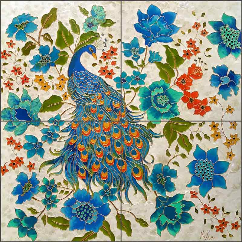 Le Sultan by Micheline Hadjis Ceramic Tile Mural MHA038