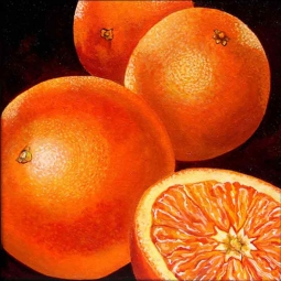 Oranges by Micheline Hadjis Ceramic Accent & Decor Tile MHA045AT