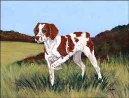 Zeppa Brittany Dog Ceramic Accent & Decor Tile - MKZ003AT