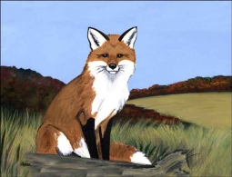 Zeppa Fox Animal Ceramic Accent & Decor Tile - MKZ005AT