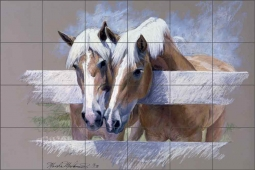 Janie & Julie by Marsha McDonald Ceramic Tile Mural - MMA001