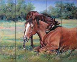 A Shoulder to Lean On by Marsha McDonald Ceramic Tile Mural MMA003