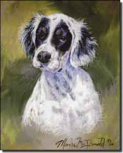 "McDonald Canine Dog Ceramic Accent Tile 8"" x 10"" - MMA013AT"
