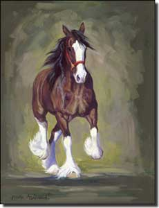 "McDonald Clydesdale Horse Ceramic Accent Tile 6"" x 8"" - MMA021AT"