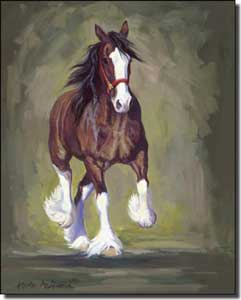 "McDonald Clydesdale Horse Ceramic Accent Tile 8"" x 10"" - MMA021AT"