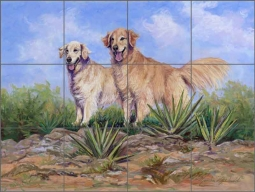 McDonald Dogs Golden Retriever Ceramic Tile Mural - MMA022