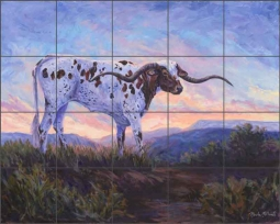 Along the Brazos by Marsha McDonald Ceramic Tile Mural - MMA024