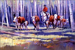 Bringing in the Upcountry by Mikki Senkarik Ceramic Tile Mural - MSA029
