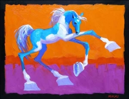 Senkarik Children's Horse Art Ceramic Accent & Decor Tile - MSA072AT